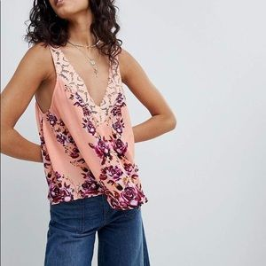 NWT Free People Morning Rose Cami In Pistachio XS